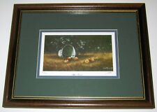 PAINTING SIGNED BY LOU MESA 'APPLE TURNOVER' 350/950 FRAMED IN WALNUT WOOD FRAME