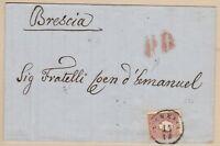 LOMBARDO VENETO 10 soldi bruno II em. su lettera da Venezia con raro annullo