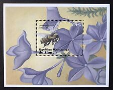 CONGO FLOWERS & BUTTERFLIES STAMPS S/S 2001 MNH HONEY BEE INSECT BUG FLORA FAUNA