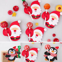 Lots 50pcs Lollypop Santa Claus Penguin Lollipop Sticks Christmas Party Decor
