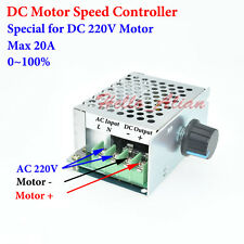DC 220V 20A PWM DC Motor Speed Controller Speed Regulator Switch AC 220V Input