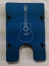 Acoustic Guitar, Aluminum Wallet/Credit Card Holder, RFID Protection, Blue