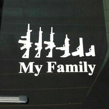 My Gun Family Bumper Sticker Window Laptop Car Truck Decal Vinyl Sticker White
