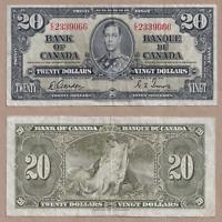 1937 $20 Bank of Canada Gordon Towers E/E 2339066