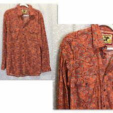 CINCH Paisley Button Down Western Shirt Pearl Snap Buttons *listed as Sz Large