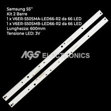 KIT 2 BARRE STRIP 66 LED TV SAMSUNG BN96-39595A BN96-39596A UE55KU UK55MU