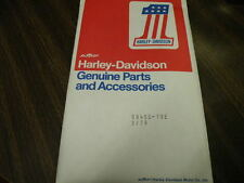 1978  AMF VINTAGE FLH FX HARLEY LOW RIDER SUPERGLIDE NOS OWNERS MANUAL BOOK OEM