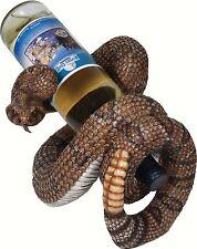 River's Edge Rattlesnake Snake Wine Bottle Holder Countertop Hand Painted 750 ml