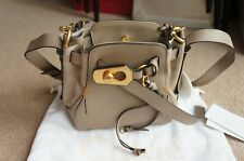 RARE CHLOÉ Owen small textured-leather and suede shoulder bag BNWT