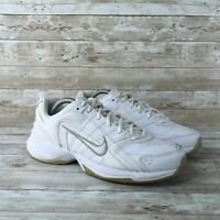Nike T-Lite VIII Womens Size 10 Retro White Leather Athletic Walking Sneakers