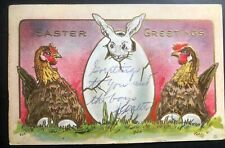 1909 Times Sq NY USA picture Postcard Cover To Cedarburg WI Easter Greetings