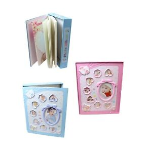 New Born Boy Girl First Year Photo Album with Hard Back Picture Frame Scan Baby
