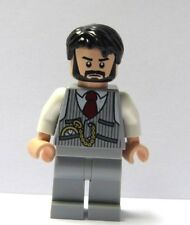 LEGO Flesh Wedding Minifigure Figure Grey Suit Black Beard Hair Groom Best Man