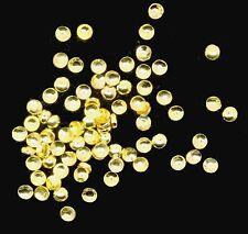 50 Mini Metallic Einleger Gold,glänzend. 1mm groß . Im Beutelchen  (RNM93)