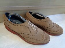 Barker suede brogue UK 6.5 40.5 beige brown leather wingtip Goodyear welt oxford
