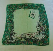 "Vintage ""Lettres Choisies"" Silk Scarf - Rene Bernaud France"