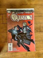 DC The Question #37 Blackest Night Unread Condition