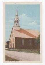Église ST-PLACIDE Quebec Canada 1940s PECO Postcard