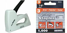 "Staple Gun Light Duty All Purpose 5525 Fits 1/4""-3/8""-1000 1/4 Staples Included"