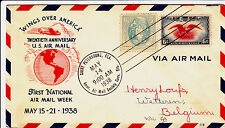 USA-WINGS OVER AMERICA-FIRST NATIONAL AIR MAIL WEEK MAY 15.21.1938