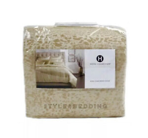 Hotel Collection Patina GOLD King Duvet / Comforter Cover $420 BRAND NEW