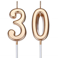 BBTO 30th Birthday Candles Cake Number Candles Happy Birthday Cake Candles for