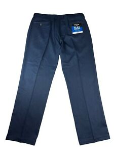 Haggar H26 Mens Flex Series Slim Fit Dress Pants Navy Blue Heather 40 x 30 NEW