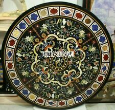 48'' Marble Dining Table Top Handmade Marquetry Multi Mosaic Furniture Decor