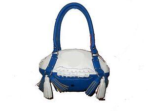 NEW r25 Royal Blue/White FOOTBALL PURSE Hand Bag NFL Colts Cowboys Penn State