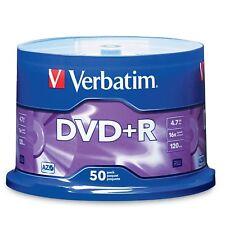 50 Verbatim AZO DVD+R 16X Branded Logo 4.7GB Media Disc Spindle 95037