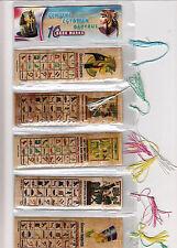 LOT OF 20 HIEROGLYPHIC ALPHABET BOOKMARKS FR EGYPT