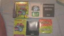 Gameboy advance sp. Pokemon leaf green. With wireless adapter.