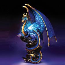 """Bradford Exchange """"Mystic Treasures"""" Illuminated Dragon Sculpture"""