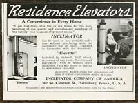 1940 Inclinator Co Harrisburg PA Print Ad Residence Elevators Elevette
