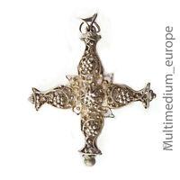 Silber Kreuz Rosenkranz Anhänger filigran silver cross pendant rosary 🌺🌺🌺🌺🌺