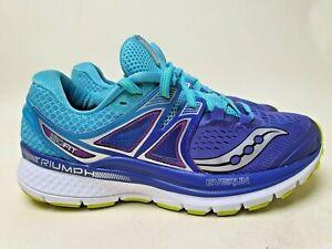 "SAUCONY Triumph ISO 3 ""Purple Blue"" Women running (Size US7) trainer gel w pre"