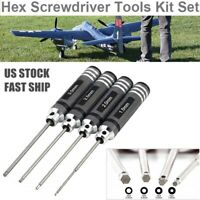 4x Hex Screwdriver Repair Tool Set For RC Car Drone Helicopter 1.5/2.0/2.5/3.0mm