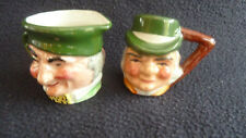 TWO Miniature Toby Character Jugs Artone Pottery England Handpainted