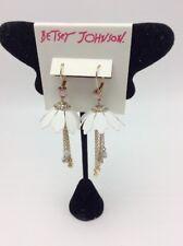 $45 Betsey Johnson Summer Flowers Chain Drop Earrings JB22