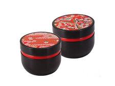 Kleine Teedose Suzuko rot schwarz Matcha Sencha Teedosen Vorratsdosen
