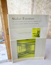 SHAKER FURNITURE,1964,Edward & Faith Andrews,Illust