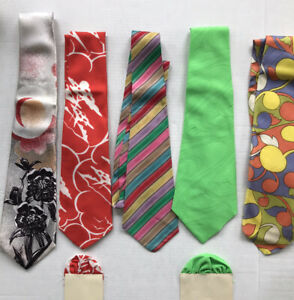 Vintage ties lot of 5- 60's 70's 80's Willard Carithers Excellent Condition
