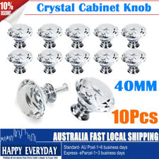 16x 40mm Clear Crystal Glass Door Knobs Drawer Cabinet Furniture Kitchen Handle