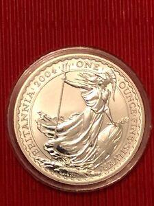 One ounce fine silver Britannia 2 pound coin