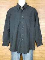Roberto Villini Black Tencel Button Front Shirt Mens Size Medium M