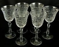 "MARINA by Rock Sharpe WATER GOBLETS Glasses 8 "" Stem #1008 - Set of 6"