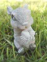 "Latex squirrel mold plaster concrete casting mould 5"" x 2"""