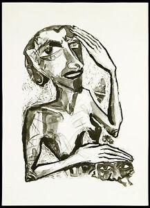 Kunst in der DDR, 1988. Lithographie von Leonore ADLER (*1953 D), handsigniert