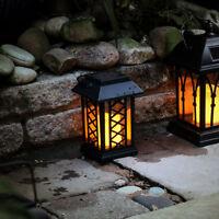 17.5cm Solar Power Outdoor LED Flameless Flickering Candle Lantern | Garden