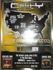 CELLY CEL Live from the Ghetto comp promo poster, 2001 Realside, 18x24, EX, rap